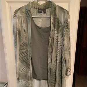 Chico's jacket with matching tank